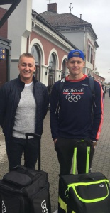 Hamar IL sin landslagsutøver Andre Klippenberg Grindheim og trener Øyvind Røsland til Ungdoms- OL i Argentina